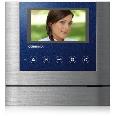 """CDV-43M nerez-modrý - verze 230Vac videotelefon 4,3"""", CVBS, handsfree, 2 vst."""