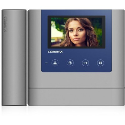 """CDV-43MH šedo-modrý - verze 230Vac videotelefon 4,3"""", CVBS, se sluch., 2 vst."""