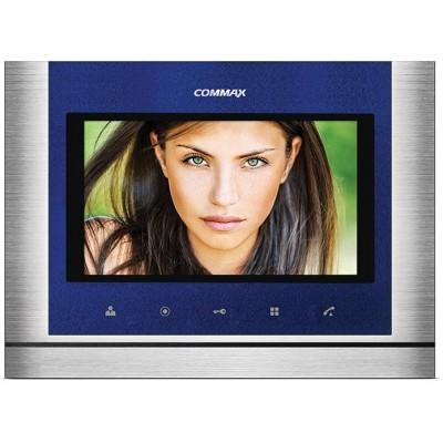 """CDV-70M nerez-modrý - verze 17-30Vdc videotelefon 7"""", CVBS, handsfree, 2 vst."""