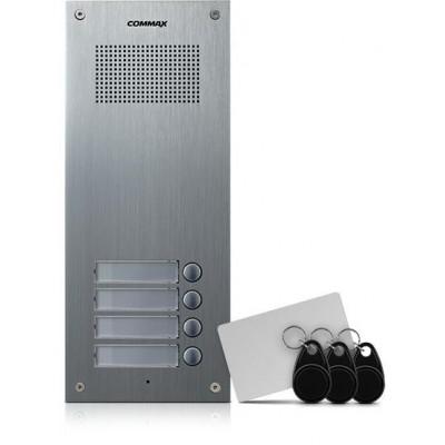 DR-4UM/RFID dveřní stanice, audio + 4 tlač., 4+n, RFID