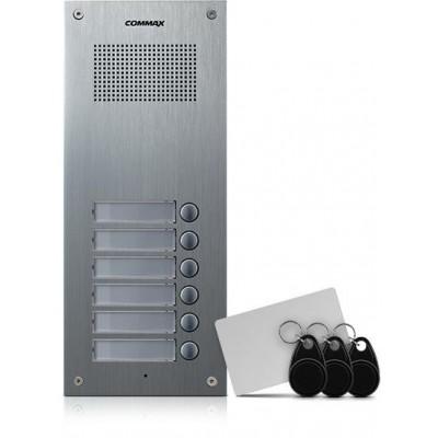 DR-6UM/RFID dveřní stanice, audio + 6 tlač., 4+n, RFID