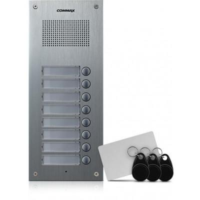 DR-8UM/RFID dveřní stanice, audio + 8 tlač., 4+n, RFID