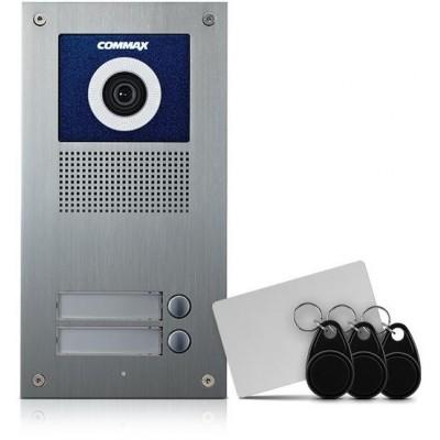 DRC-2UC/RFID dveřní stan. s kamerou, 2 tlač., CVBS, RFID