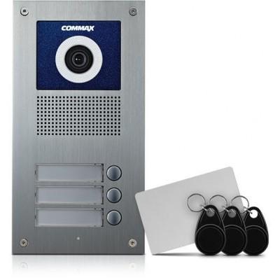 DRC-3UC/RFID dveřní stan. s kamerou, 3 tlač., CVBS, RFID