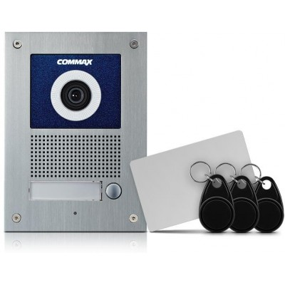 DRC-41UN/RFID dveřní stanice s kam., 1 tlač., CVBS, RFID