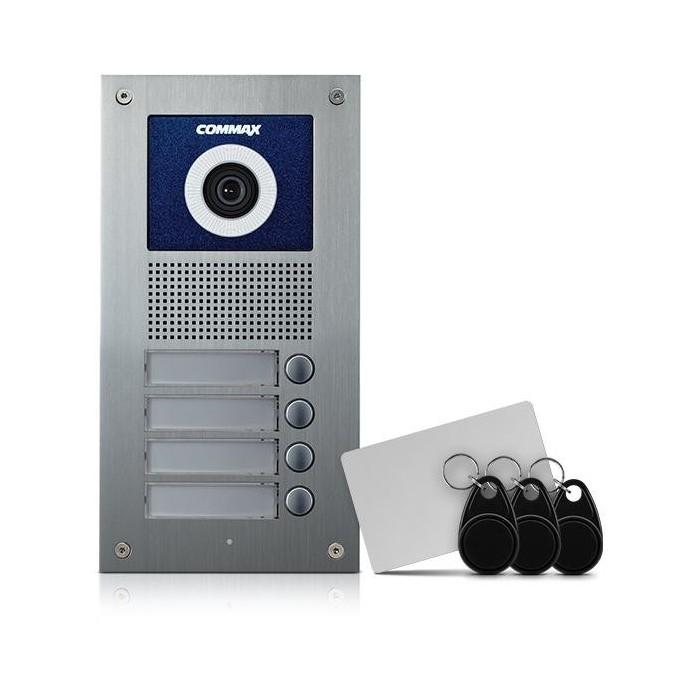 DRC-4UC/RFID dveřní stan. s kam., 4 tlač., CVBS, RFID