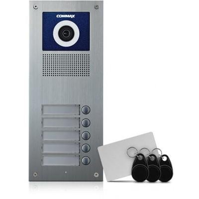 DRC-5UC/RFID dveřní stan. s kam., 5 tlač., CVBS, RFID