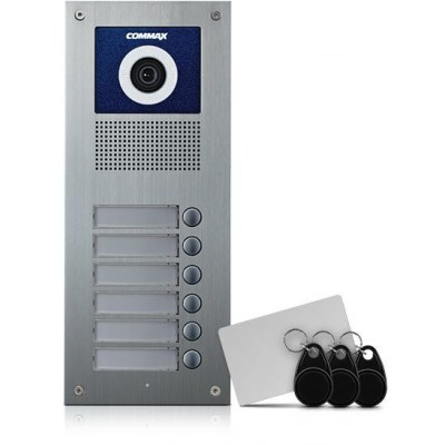 DRC-6UC/RFID dveřní stan. s kam., 6 tlač., CVBS, RFID