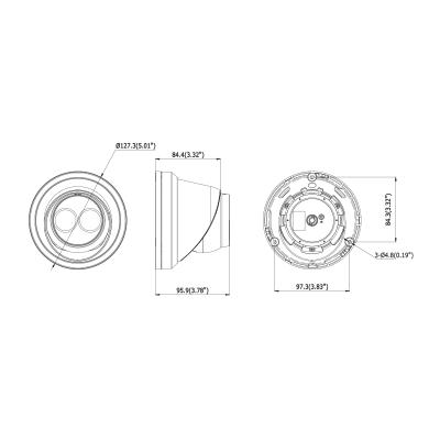 DS-2CD2363G0-IU - (4mm) 6MPix, IP dome kamera, 4mm, WDR, EXIR 30m, H265+