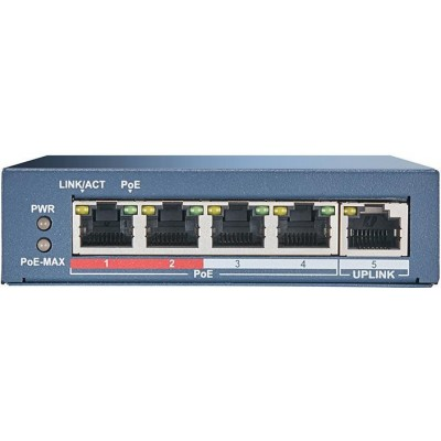 DS-3E0105P-E switch 4 PoE porty 10/100Mbps + 1x uplink 10/100Mbps