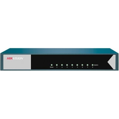 DS-3E0508-E switch 8 portů 1Gbps, kovový kryt