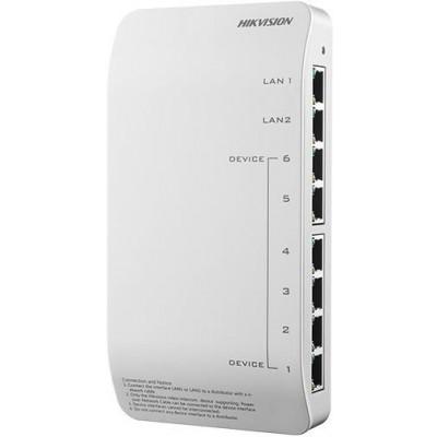 DS-KAD606-P PoE switch pro systém videotel. Hikvision 1. gen.