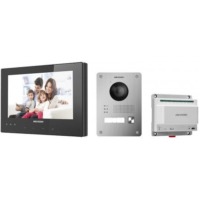 DS-KIS701-B-D sada videotelefonu, 2-vodičový systém, černý VDT
