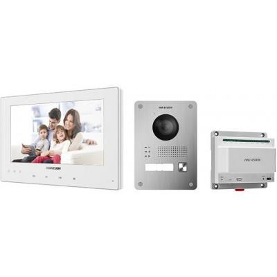 DS-KIS701-W-D sada videotelefonu, 2-vodičový systém, bílý VDT