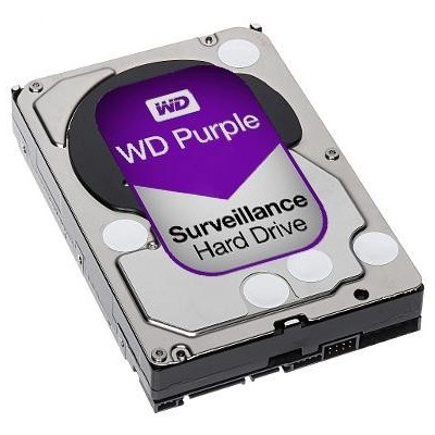 HDD-6TB WD Purple 6 TB, 64 MB cache, 6 Gb SATA., 5400 ot.