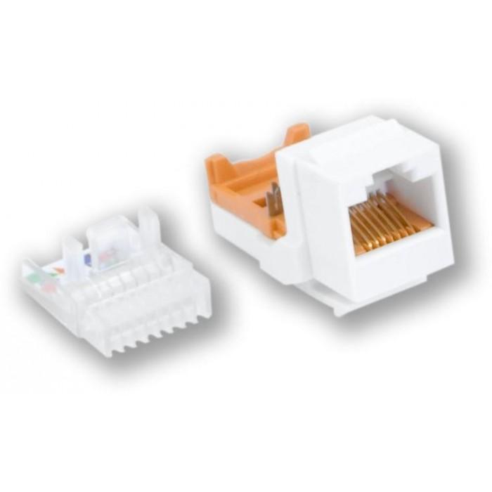 KJ-015 UTL/C5E - bílá horní osazování, samořezný, C5E