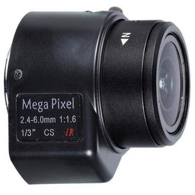 M13VD246IR CS objektiv, 2,4-6mm, aut.clona, IR korekce, megapixel