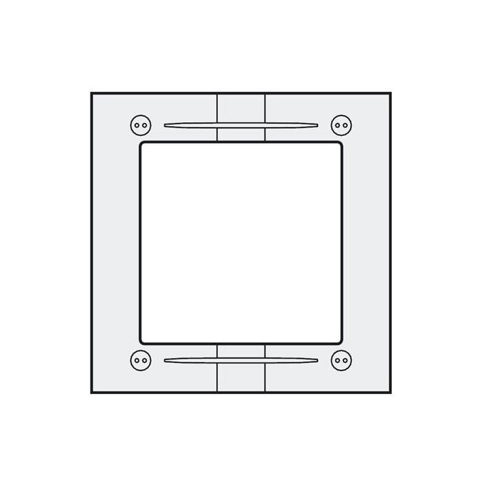 MAS61 hliníkový montážní rámeček 1 modul