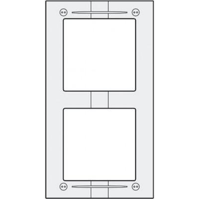 MAS62 hliníkový montážní rámeček 2 moduly
