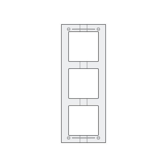 MAS63 hliníkový montážní rámeček 3 moduly