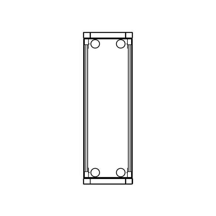 MD74 zápustná inst. krabička, 4 moduly, MODY