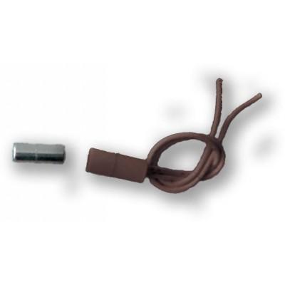 MINI-15 - hnědá závrtný, miniaturní - 2vodič