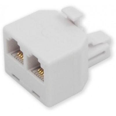 MP-110 6P4C přímá rozdvojka do zásuvky telefon/telefon