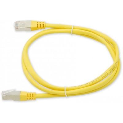 PC-400 5E FTP/0,5M - žlutá propojovací (patch) kabel