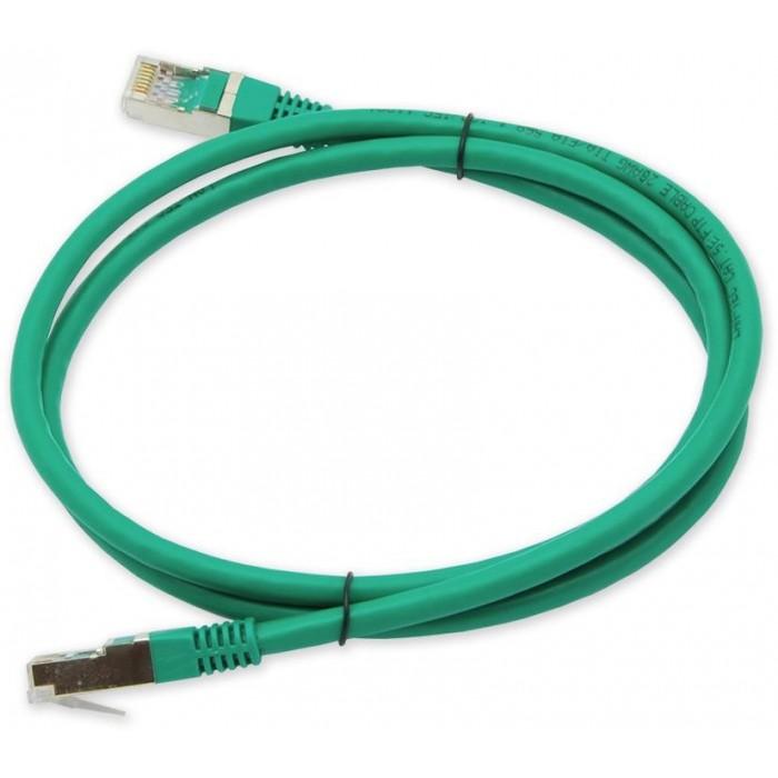PC-401 C5E FTP/1M - zelená propojovací (patch) kabel