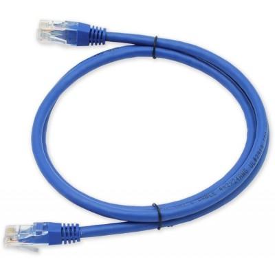 PC-600 C6 UTP/0,5M - modrá propojovací (patch) kabel