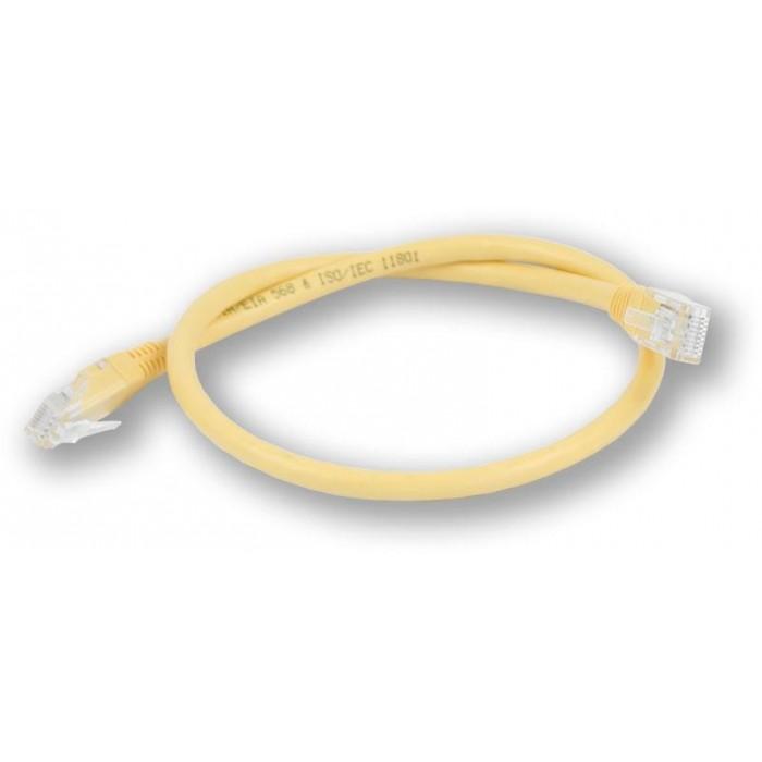 PC-600 C6 UTP/0,5M - žlutá propojovací (patch) kabel