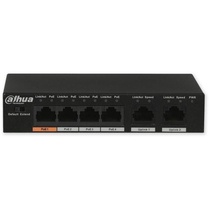 PFS3006-4ET-60 switch 6/4, 4x PoE/2x LAN, 3af, 3at, 60W