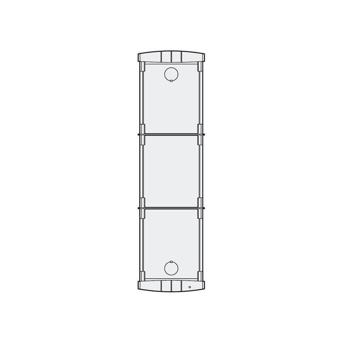 PL73 zápustná inst. krabička 3 mod., Profilo