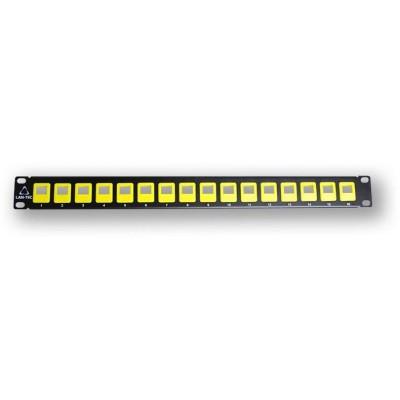"""PP-104 16 EMPTY - žlutá 19"""" patch panel 1U, pro 16 KJ"""