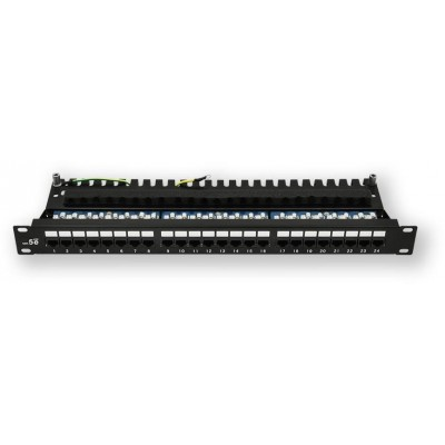 "PP-120 24P/C5E 19"" patch panel 1U, 24 portů C5E"