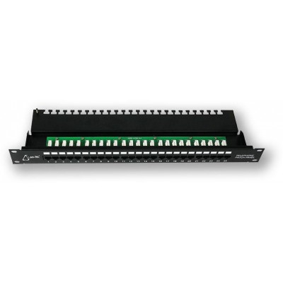 "PP-192 25P/C3 19"" patch panel 1U, 25 portů C3, telefonní"