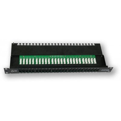 "PP-194 50P/C3 19"" patch panel 1U, 50 portů C3, telefonní"