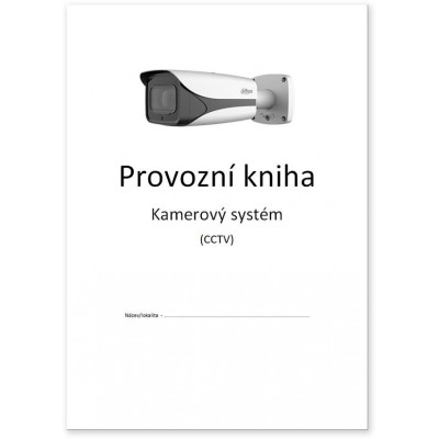 Provozní kniha CCTV výtisk A4 dle GDPR (EU/2016/679)