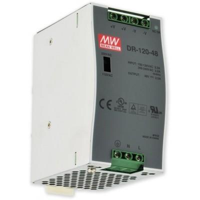PS-DIN 120-48 spínaný zdroj 48V,/2,5A na DIN, ochrany