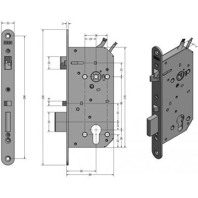 SAM EL MI B 9050 elektromechanický samozamykací zámek