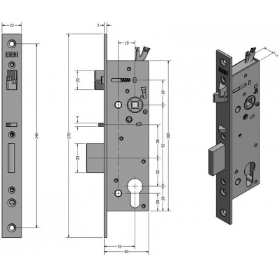 SAM EL MI P 9235 elektromechanický samozamykací zámek