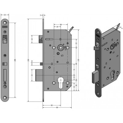 SAM REV 9050 elektromechanický samozamykací zámek