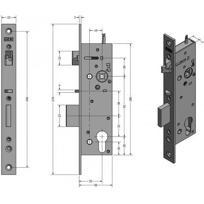 SAM REV 9235 elektromechanický samozamykací zámek