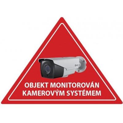 Samolepka CCTV výstražná červená samolepka CCTV, trojúhelník, venkovní