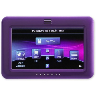 TM50 - fialová barevná grafická dotyková klávesnice