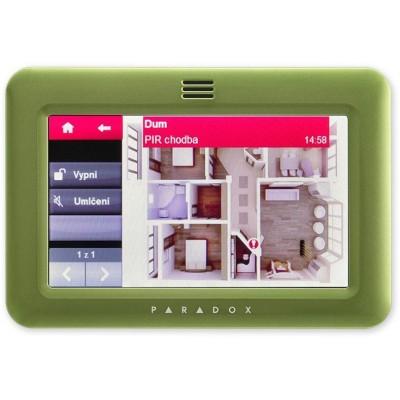 TM50 - zelená barevná grafická dotyková klávesnice