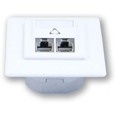 WO-632 smart C5E/S 2P osazená 2 porty, stíněná, do krabice