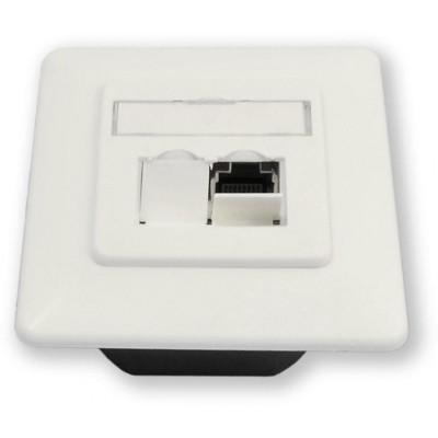 WO-832 smart C6/S 2P osazená 2 porty, stíněná do krabice