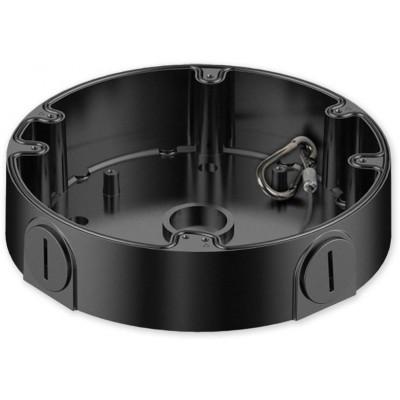 PFA138 BLACK nástěnný zapojovací box, kulatý černý