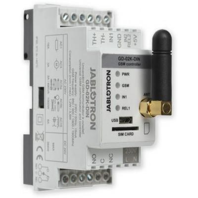 GD-02K-DIN univerzální GSM komunikátor a ovladač na DIN